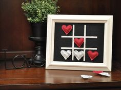framed tic tac toe!