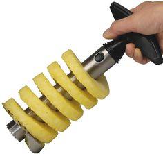 Vacu Vin 4882350 Stainless Steel Pineapple Easy Slicer