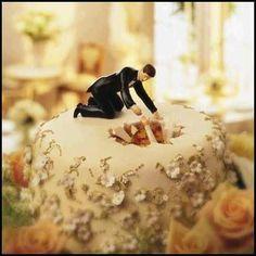 wedding cake sink hole--LOL