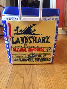 Landshark cooler painting