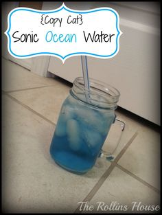 Ever wonder how Sonic makes some of their tasty dessert drink slushies? This copycat Sonic Ocean Water will show you how to make one of their most famous flavors!