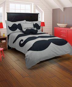 Mustache Comforter Set