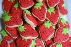Strawberry Mini cookies 3 Dozen by thetalentedcookie