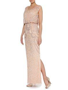 Sequin Blouson Dress  Sequin Blouson Dress