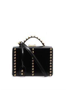 Grace mini studded leather box bag   Mark Cross   MATCHESFASHI...