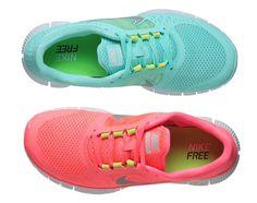 Neon Nike tennis shoes