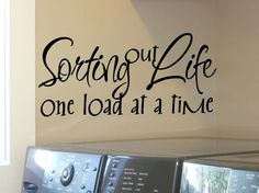 laundry room wall quote sticker decal sorting out by VinylGraffiti,