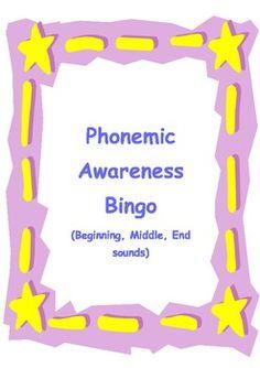 Phonemic Awareness Bingo - FREE -