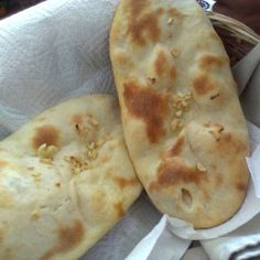 Pan de ajo de la India.