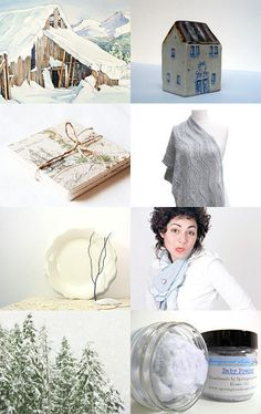 It's Cold Out There, I'm Staying Inside.  An Etsy treasury that's cold and frosty, warm and glowing at the same time. - pinned with TreasuryPin.com