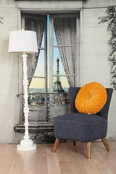 decor, tapestries, paris, window view, pari window