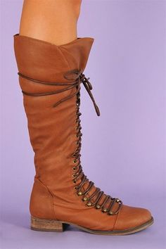 Roxy Lace Up Boot - Tan