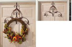 Decorative Scroll Metal Holiday Wreath Hanger