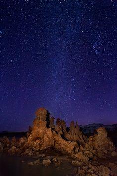 Stars over Mono Lake, California