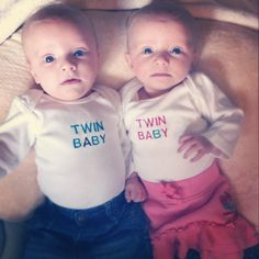 Baby A and Baby B twin shirt Preemie by joyshinedesigns on Etsy, $20.00