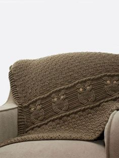 Crochet - Night Owl Decorative Throw - How cute would this be in pastel or brights for a kid???? <3