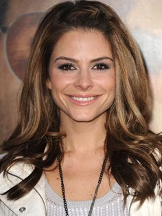TV personality Maria Menounos keeps her look fresh with a simple three plaited French braid on top of her forehead allowing her to stay camera ready at all times.