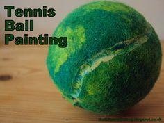 tennis ball painting