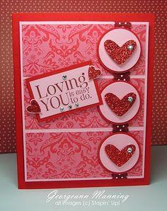 beauti valentin, valentin card, card idea, craft, heart