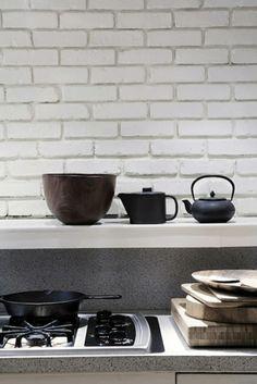 Black and white brick