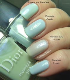 Dior Porcelaine 204 and Pampille 192 - from the Dior Trianon Collection for Spring 2014   Pointless Cafe