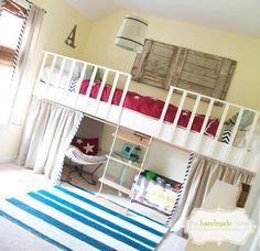 kids loft, kid beds, diy cool kids beds, guest bedrooms, kids bedroom stage