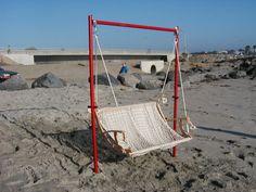 Beach Swing Sand Frame by firesculptureart on Etsy, $725.00