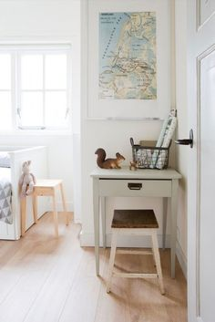 vintage desk in kids