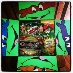 Ninja turtles!! Pizza flavored everything  Hubby LOVES the ninja turtles...this would be great!