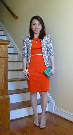 Orange, gray, mint