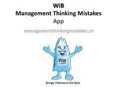 WiB  Management Thinking Mistakes App quotes and stories managementthinkingmistakes.ch