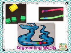 Phoneme Segmentation!  Make and Take Freebie and Book Talk Tuesday!  Segmenting words is an important skill that we work on throughout the year. Kids need a variety of hands on ways to work on this skill in order to make it more concrete...