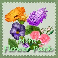 Free Mini Flower Pack - lots of spring flowers - 3Dinosaurs.com