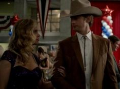 Eric Northman (Alexander Skarsgard) and Pam (Kristin Bauer van Straten) get their Texan on in HBO's True Blood Season 7 Episode 5