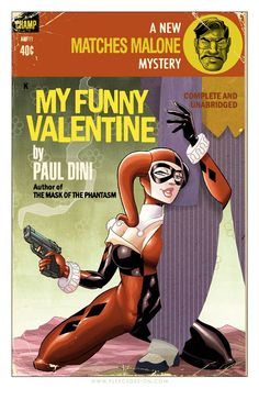 Harley Quinn pulp cover