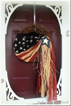 Patriotic Door Decor Idea