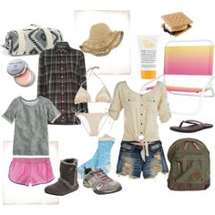 camping, created by aylaha on Polyvore