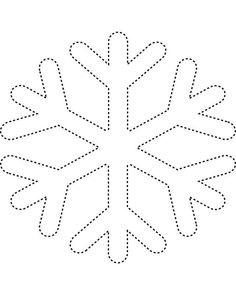 Snowflake template 2 - Free Printable Coloring Pages
