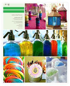 Rainbow wedding theme inspiration