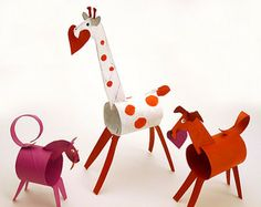 These adorable Toilet Paper Tube Valentine Animals are an awesome reuse project that doesn't scream reuse.    Toilet Paper Tube Valentine Animals @Jamie Dorobek {C.R.A.F.T.}.com blog