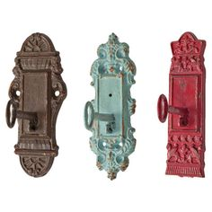 Very unique.....I like!  I pinned this 3 Piece Lock & Key Wall Hook Set from the Oak Studios event at Joss and Main!