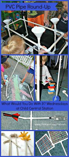 What Would You Do With It? Wednesday - PVC Pipe! | Child Central Station, #diy, pvc pipe, #toys, #kids, learning fun! Join in on the fun- link up your pvc pipe ideas!