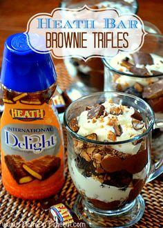 Heath Bar Brownie Trifles - Mom On Timeout