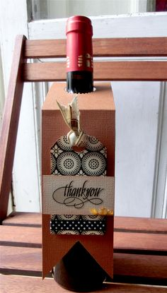 Thank You Tag for wine bottles - Scrapbook.com