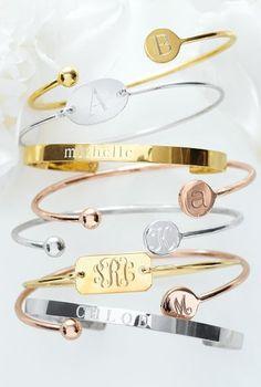 bracelet, bangl, monogram, bridesmaid gifts, bridal parties