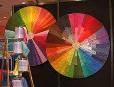 These art quilt color wheels are just fabulous.