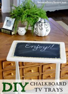 DIY Chalkboard TV Trays | Beneath My Heart