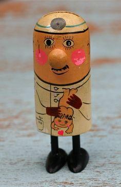 Vintage Pride Creations Popsie Baby Doctor Toy Made in Japan
