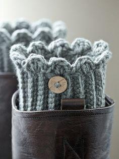 One pair of crochet boot cuffs / boot socks / by PikaPikaCreative, $18.00