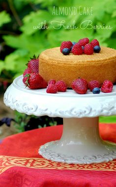 Almond Cake with Fresh Berries